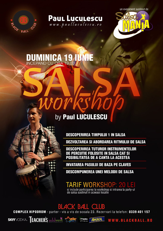 Braila – workshop de percutie si muzicalitate in salsa